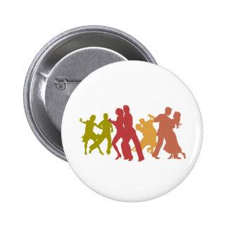 Danseurs colorés de tango badges