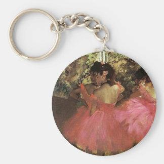 Danseurs dans le rose par le porte - clé d'Edgar Porte-clé Rond