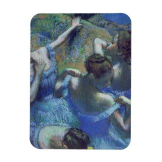 Danseurs de bleu d'Edgar Degas  , c.1899 Magnet Flexible