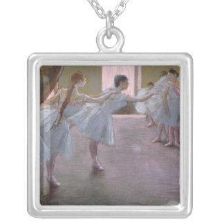 Danseurs d'Edgar Degas   à la répétition, Pendentif Carré