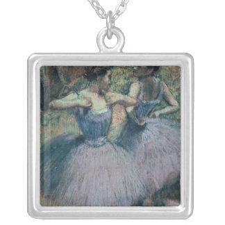 Danseurs d'Edgar Degas   dans la violette Pendentif Carré