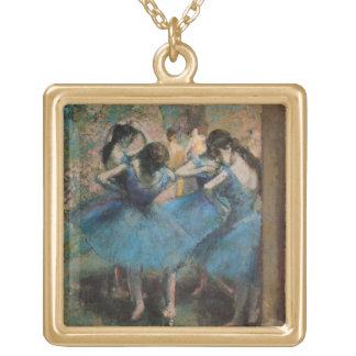 Danseurs d'Edgar Degas | dans le bleu, 1890 Collier Plaqué Or