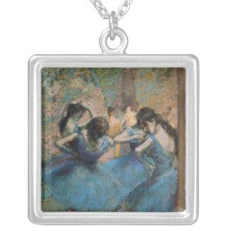 Danseurs d'Edgar Degas   dans le bleu, 1890 Pendentif Carré