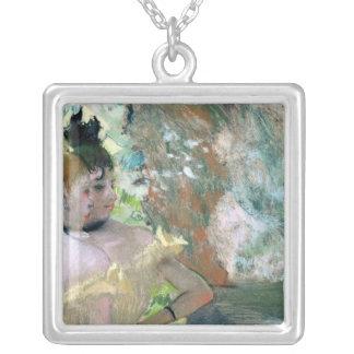 Danseurs d'Edgar Degas   dans les ailes Pendentif Carré