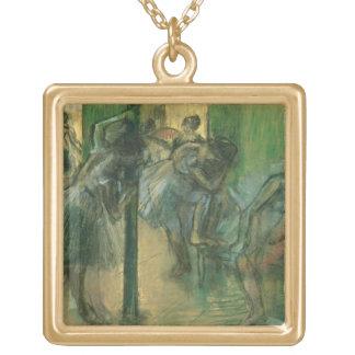 Danseurs d'Edgar Degas   préparant Pendentif Carré