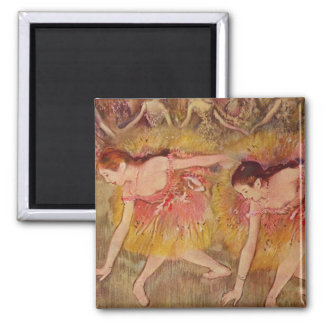 Danseurs d'Edgar Degas se pliant en bas de Aimant