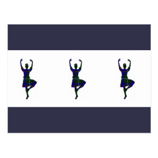 Danseurs des montagnes écossais carte postale