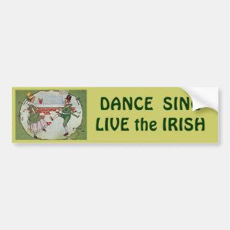 danseurs irlandais vintages adhésif pour voiture