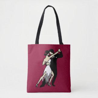 Danseurs romantiques de tango tote bag