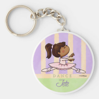 Danseuse de ballerine d'Afro-américain Porte-clés