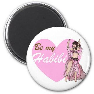 Danseuse du ventre de Habibi Magnet Rond 8 Cm