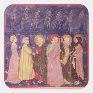 Dante et Béatrice avec les saints du paradis Stickers Carrés