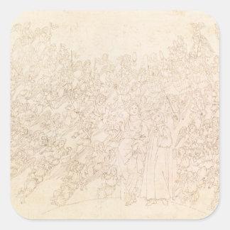 Dante et Béatrice, du ` de Dante divin Sticker Carré