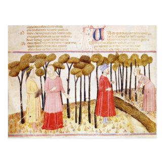 Dante et Virgil au sommet du purgatoire Cartes Postales