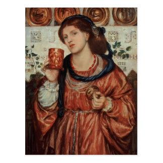 Dante Gabriel Rossetti- la tasse affectueuse Carte Postale