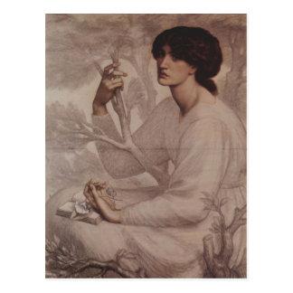 Dante Gabriel Rossetti - rêverie Carte Postale