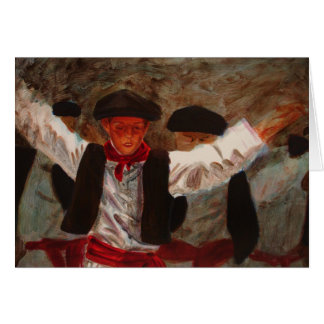 Dantzaritxiti - danseur Basque Carte De Vœux