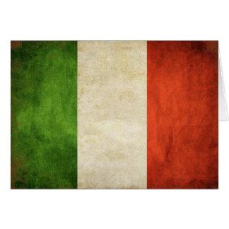 DAO de salutation avec le drapeau italien vintage Carte