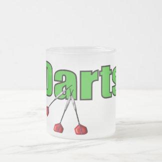 Dards avec 3 dards mug en verre givré