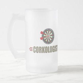 Dards humoristiques mug en verre givré