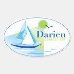 Darien, CT, autocollant de voilier