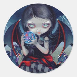 """""""Dark Dragonling"""" Sticker Sticker Rond"""