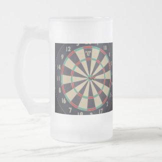 Dart_Board, _Bulls_Big_Frosted_Beer_Glass_Mug. Mug En Verre Givré