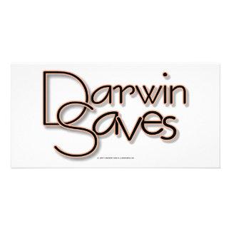Darwin économise photocarte personnalisée
