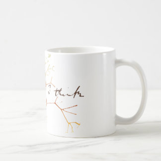 Darwin, je pense l'arbre à la vie mug