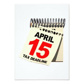 Date-butoir d'impôts carton d'invitation  12,7 cm x 17,78 cm