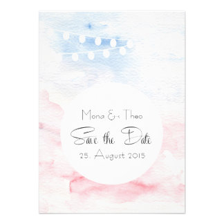 Date save the - carte postale dans les tons tendre