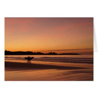 Date surfante de plage de Higgins Cartes De Vœux