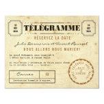 Date vintage de La de Télégramme Réservez Carton D'invitation 10,79 Cm X 13,97 Cm