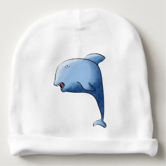 Dauphin bleu bonnet de bébé