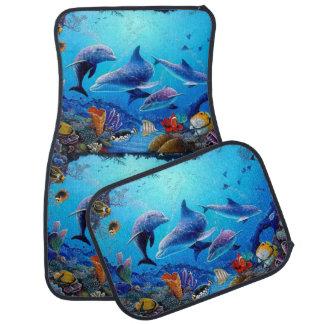Dauphin bleu de mer tapis de voiture