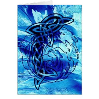 Dauphin celtique carte de vœux