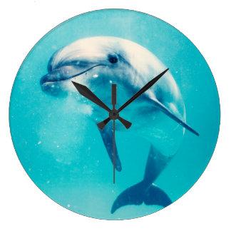 Dauphin de Bottlenosed sous-marin Grande Horloge Ronde