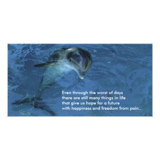 Dauphin de carte photo d'espoir cartes de vœux avec photo