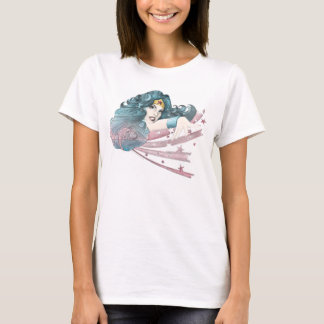 Dauphin et rayures de femme de merveille t-shirt