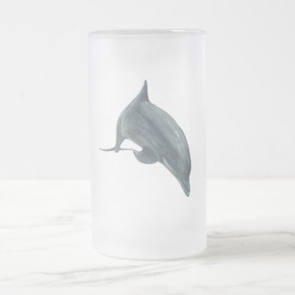 Dauphin Frosted Glass Beer Mug