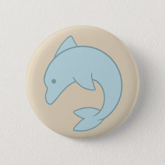Dauphin rond simple badge