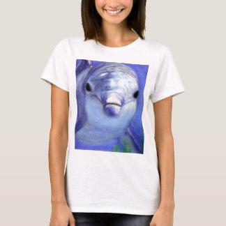 Dauphins dessinant l'image sous-marine de dauphin t-shirt