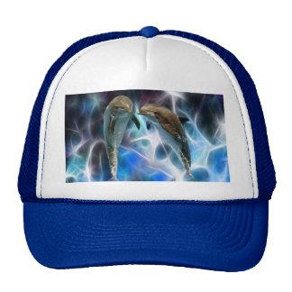 Dauphins et cristaux de fractale casquette