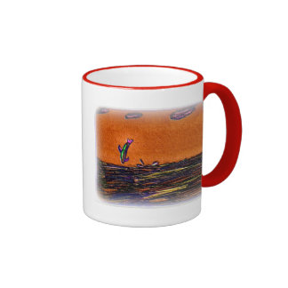 Dauphins jouant dans l'art d'effets spéciaux mug ringer