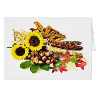 D'automne toujours la vie carte de vœux