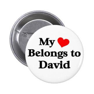 David a mon coeur pin's