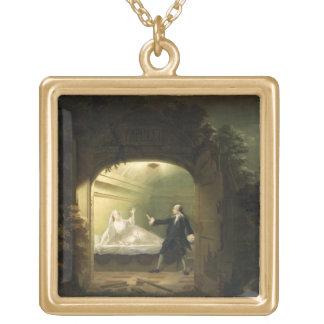 David Garrick (1717-79) et George Anne Bellamy ( Collier Plaqué Or