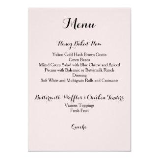 Davis + Carte de menu de harpiste