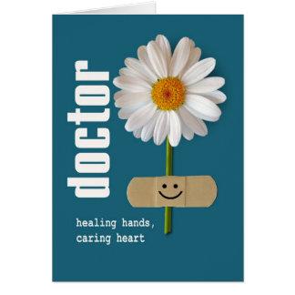 Day de médecins heureux. Cartes de voeux