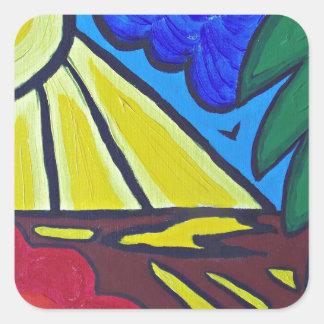 day.JPG nuageux Sticker Carré